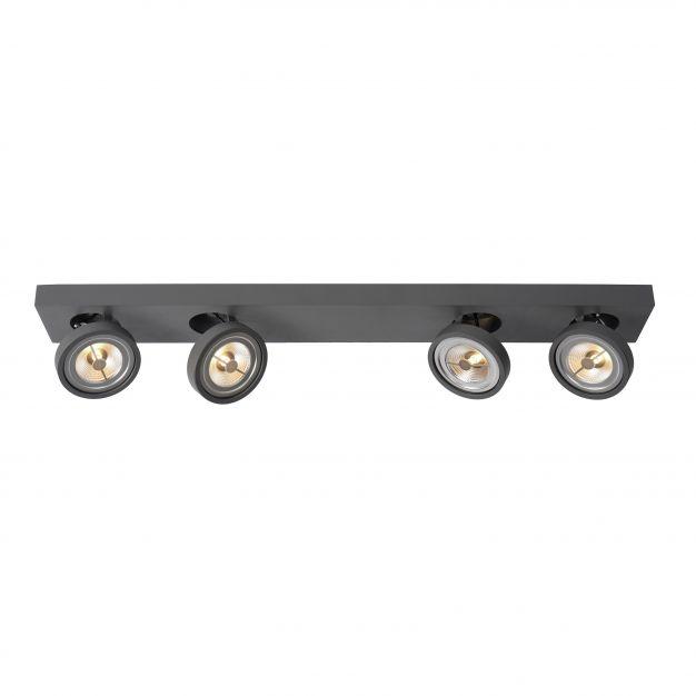 Lucide Nenad AR111 - spot 4L - 12 x 89 x 8 cm - 4 x 10W LED à intensité variable incl. - gris