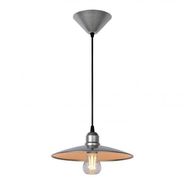 Lucide Peter - suspension - 27 x 27 x 140 cm - 8W LED à intensité variable incl. - gris
