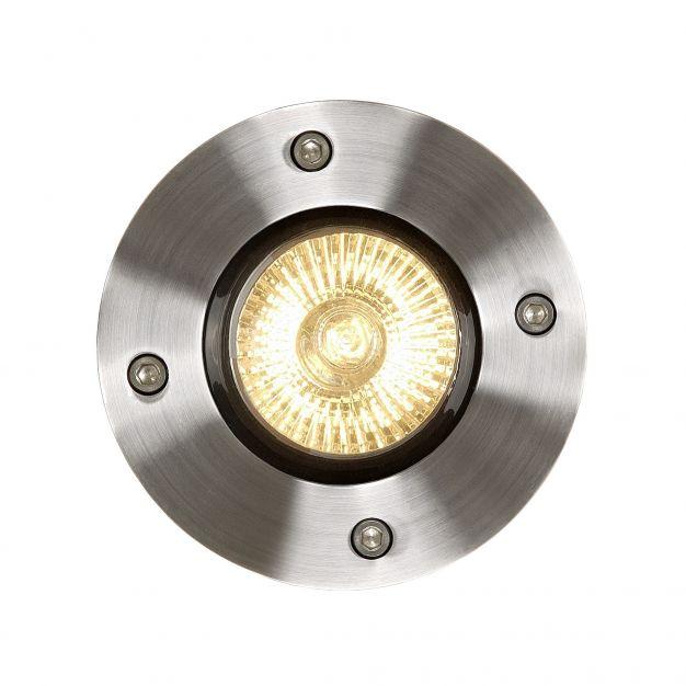 Lucide Biltin - spot sol pour l'extérieur - 10,8cm - GU10 - IP67 - chrome mat