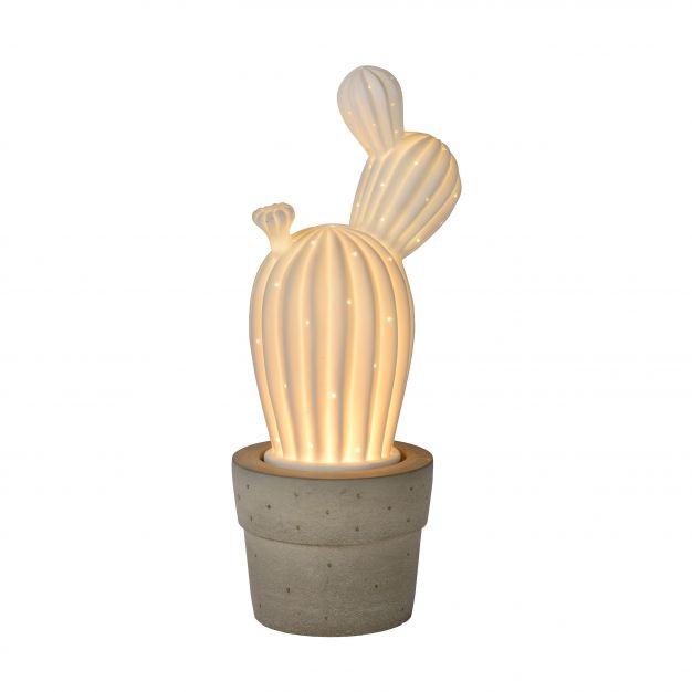 Lucide Cactus - lampe de table - 33 cm - blanc