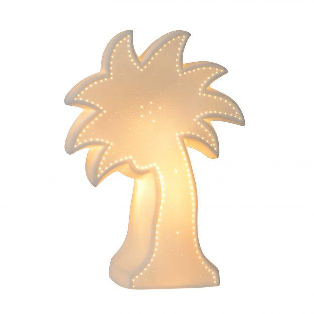 Lucide Palm - lampe de table - 26 cm - blanc
