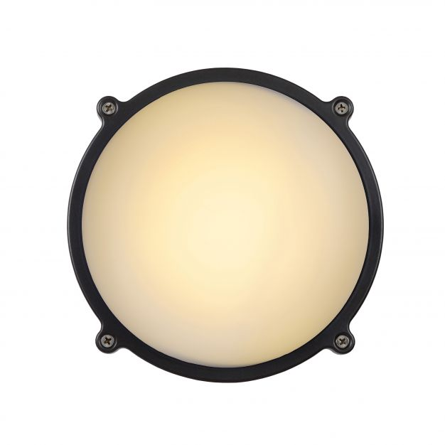Lucide Hublot LED - pour l'extérieur mur/plafonnier - 19 x 7 cm - 12W LED incl. - IP65 - gris