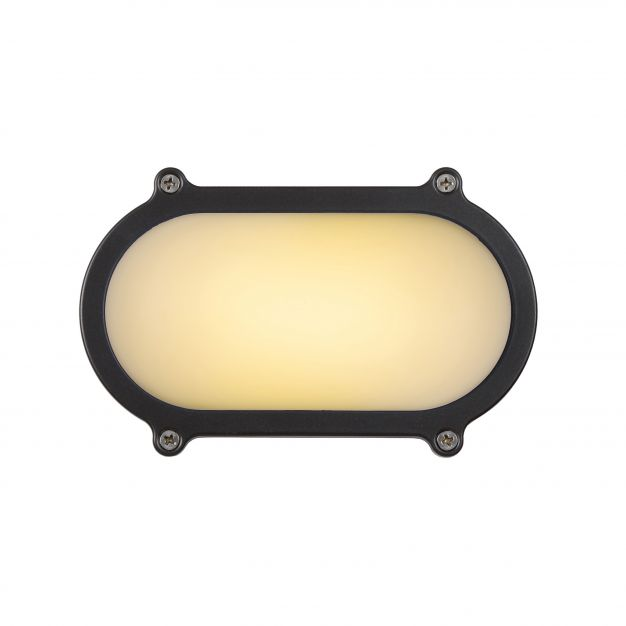 Lucide Hublot LED - pour l'extérieur mur/plafonnier - 10 x 5 x 15 cm - 6W LED incl. - IP65 - gris