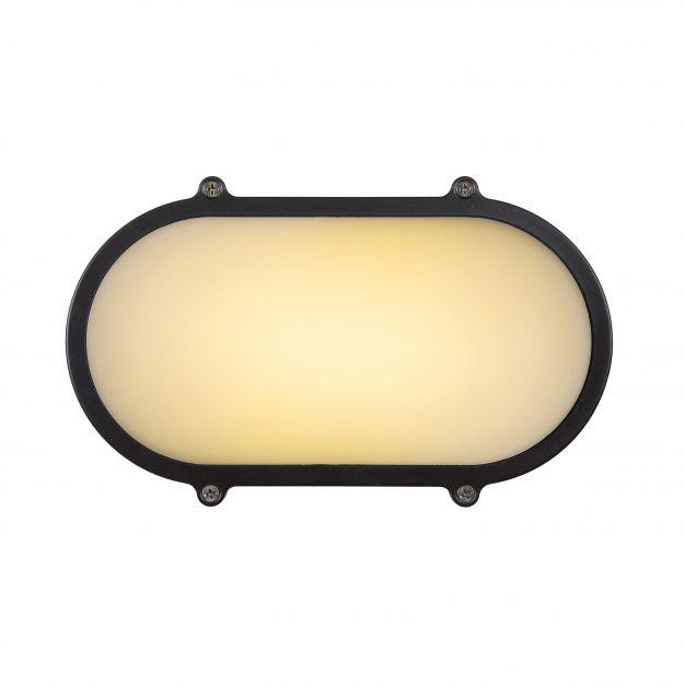 Lucide Hublot LED - pour l'extérieur mur/plafonnier - 13 x 7 x 21 cm - 12W LED incl. - IP65 - gris