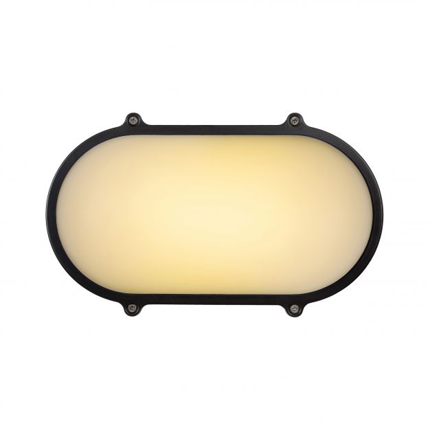 Lucide Hublot AC LED - pour l'extérieur mur/plafonnier - 16 x 9 x 27 cm - 20W LED incl. - IP65 - gris