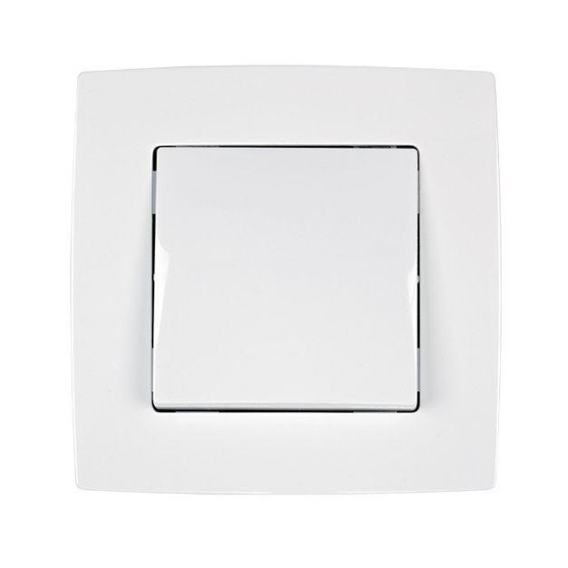 Elmark City - interrupteur marche/arrêt - 1 pôle - easy connect - blanc