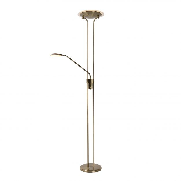 Lucide Champion LED - lampadaire - 180 cm - 20W LED à intensité variable incl. - bronze