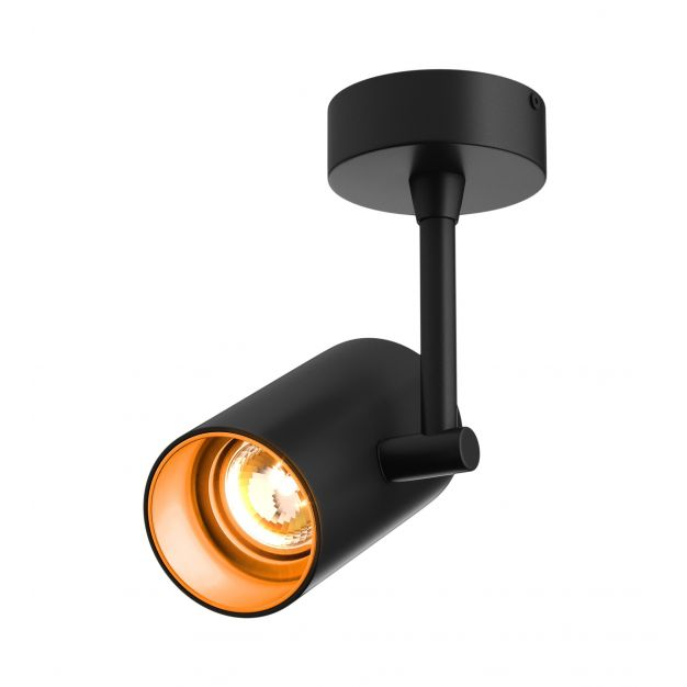Zuma Line Tori SL 1 - spot avec rosace et rosace intégrée - 21 x 13 x 8 cm - noir et orange-or