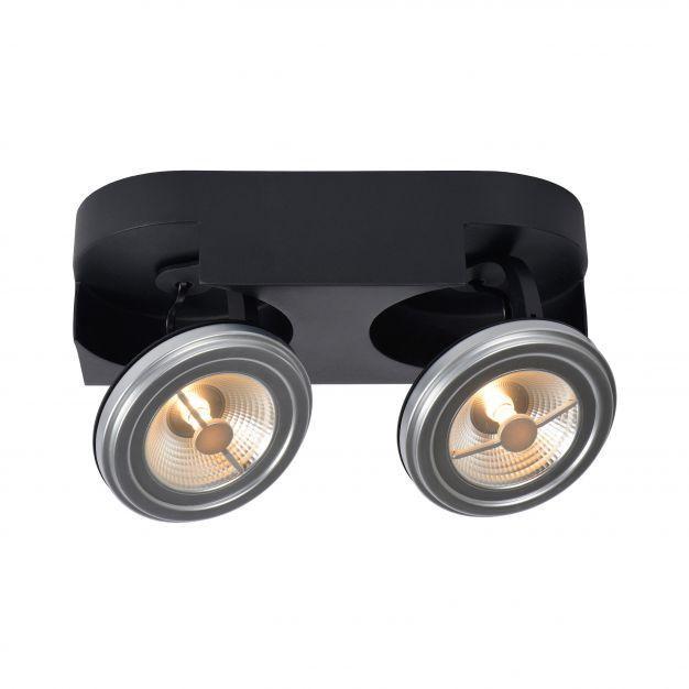 Lucide Versum AR111 - spot 2L - 15 x 30 x 11 cm - 2 x 10W LED à intensité variable incl. - noir