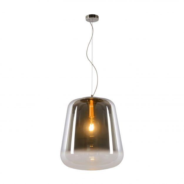 Lucide Glorio - suspension - Ø 45 x 180 cm - verre fumé