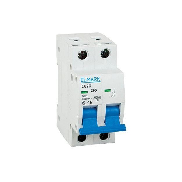 Elmark automatique - 2 pôles - 20 A - 6 kA - caractéristiques B
