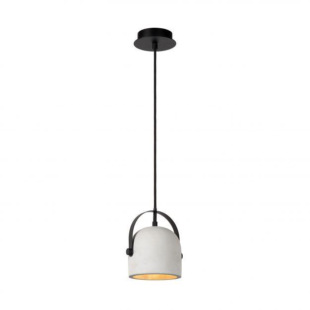 Lucide Molio - suspension - Ø 14 x 144 cm - blanc et noir