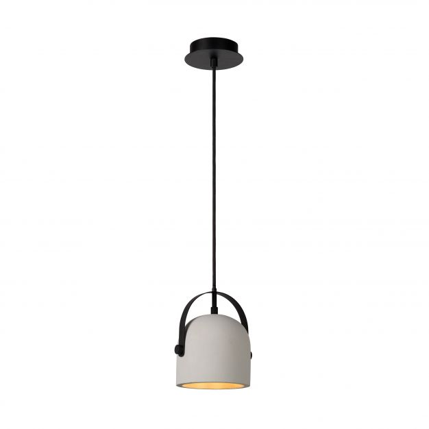 Lucide Molio - suspension - Ø 14 x 144 cm - taupe et noir