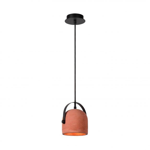 Lucide Molio - suspension - Ø 14 x 144 cm - orange et noir
