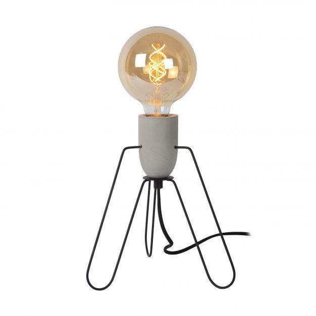 Lucide Semih - lampe de table - 26 cm - noir et gris