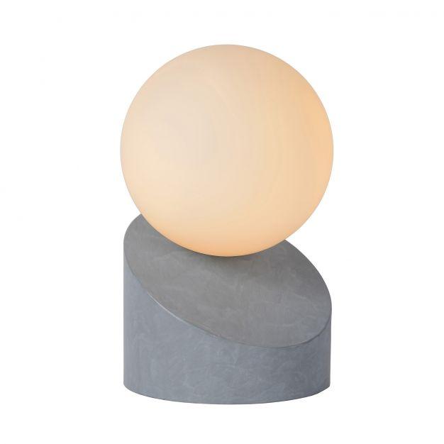 Lucide Len - lampe de table - 16 cm - gris et opale