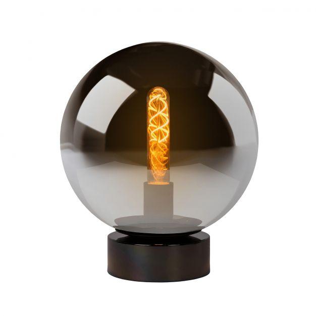 Lucide Jorit - lampe de table - 30 cm - verre fumé