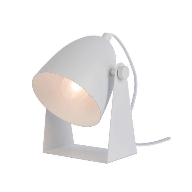 Lucide Chago - lampe de table - 19 cm - blanc