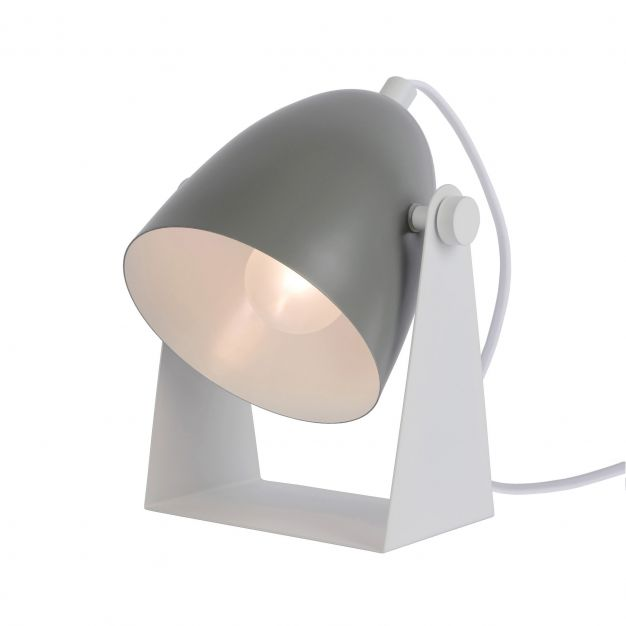 Lucide Chago - lampe de table - 19 cm - gris