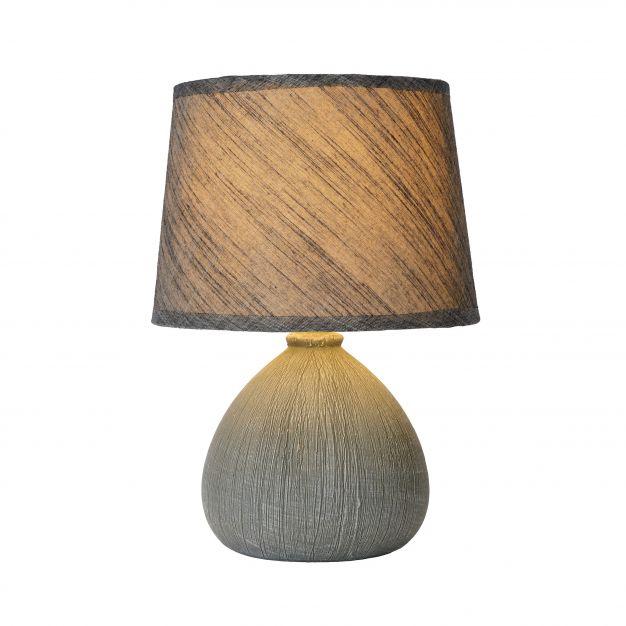 Lucide Ramzi - lampe de table - 26 cm - gris