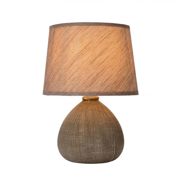 Lucide Ramzi - lampe de table - 26 cm - marron
