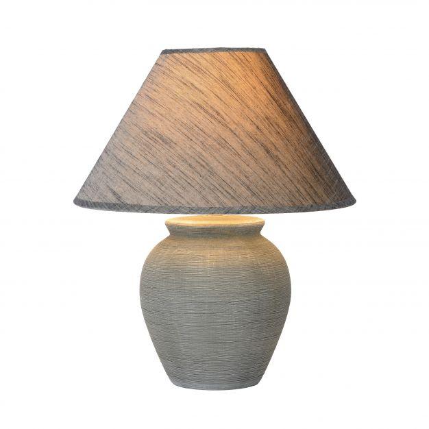 Lucide Ramzi - lampe de table - 42 cm - gris