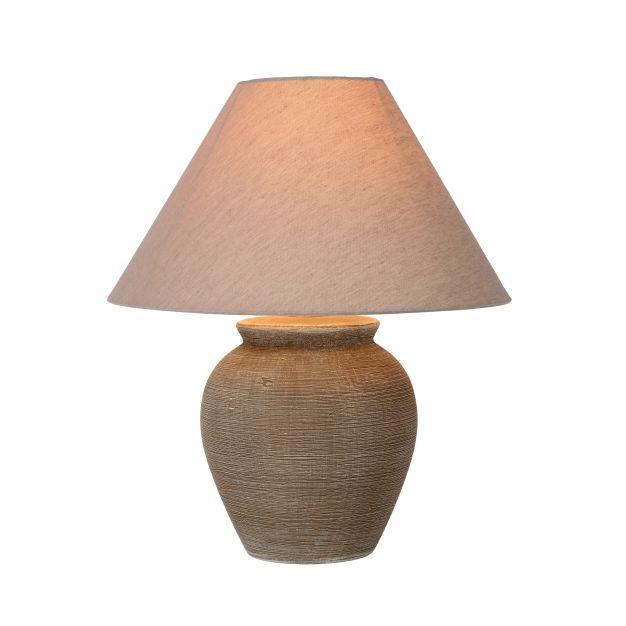 Lucide Ramzi - lampe de table - 42 cm - marron