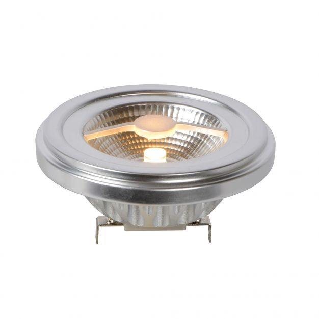 LED QR111 à intensité variable - G53 - 10W - 2700K - chrome mat