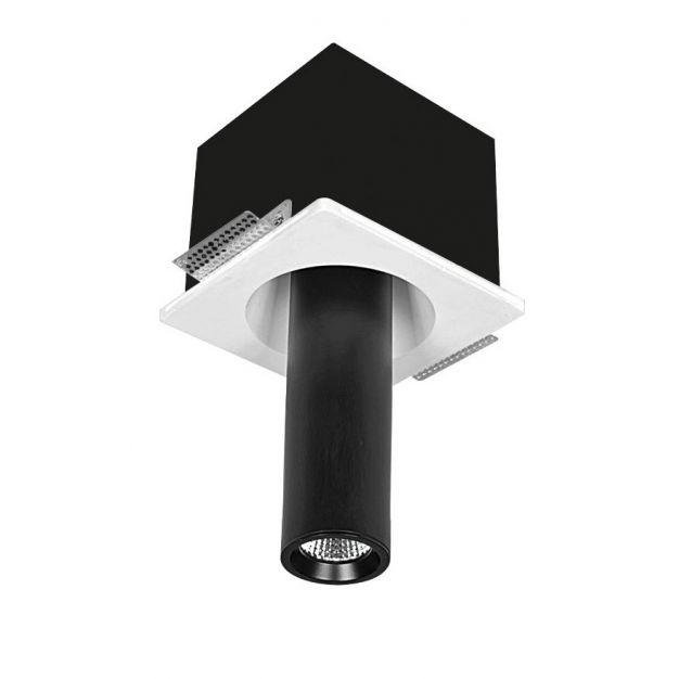 Nova Luce Giacomo - spot - 28 cm - noir et blanc