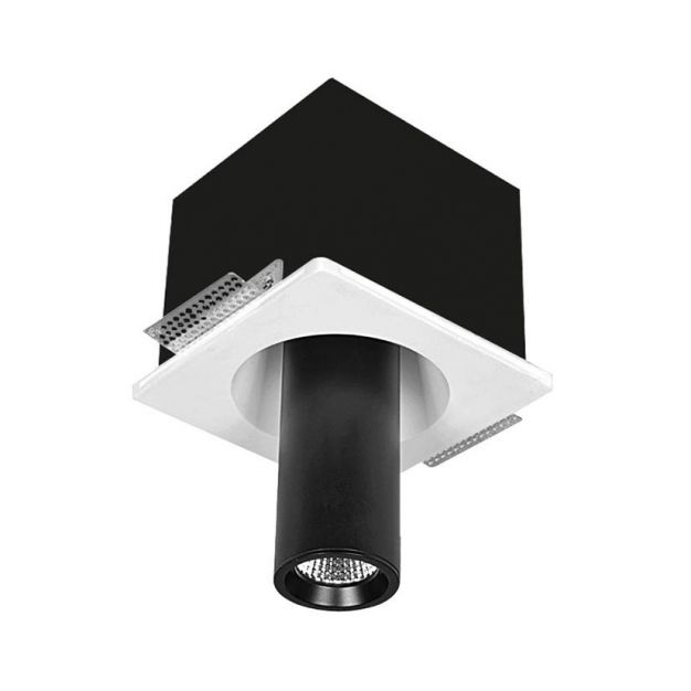 Nova Luce Giacomo - spot - 18 cm - noir et blanc