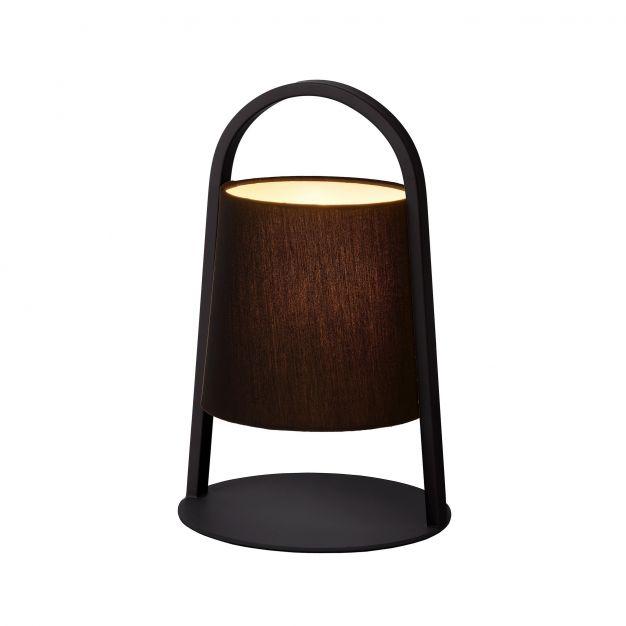 Lucide Dixi - lampe de table - 32 cm - noir