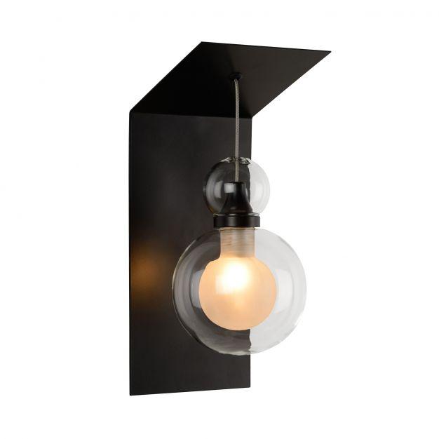 Lucide Mads - lampe murale - 10 x 12 x 25 cm - 3W LED à intensité variable incl. - noir