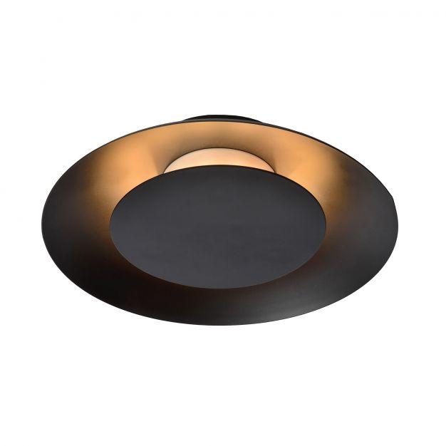 Lucide Foskal - plafonnier - Ø 21 x 5 cm - 6W LED incl. - noir
