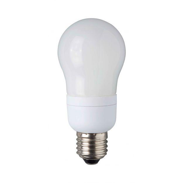 ampoule à économie d'énergie - E27 - 9W - blanc chaud (fin de série)
