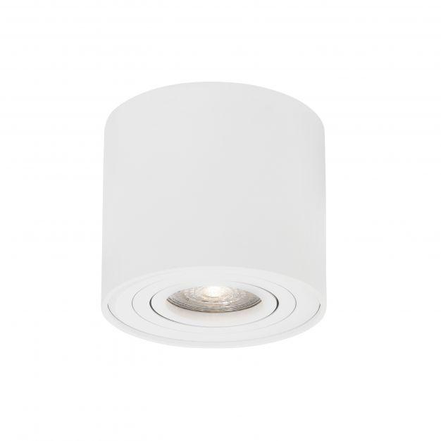 Nova Luce Gozzano - opbouwspot - Ø 8 x 9 cm - wit