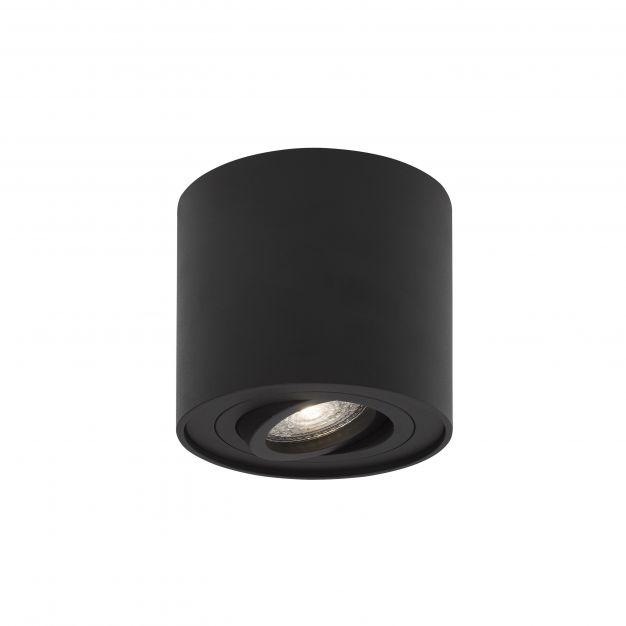 Nova Luce Gozzano - opbouwspot - Ø 8 x 9 cm - zwart