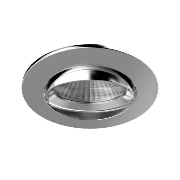 Nordlux Apollo - inbouwspot - 5,5W dimbare LED incl. - Ø 85 mm, Ø 72 mm inbouwmaat - IP23 - chroom