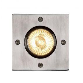 Lucide Biltin carré - spot sol pour l'extérieur - 10,8cm - GU10 - IP67 - chrome mat