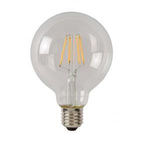 ampoule à filament LED à intensité variable - Ø 9,5 cm - E27 - 5W - 2700K - transparent