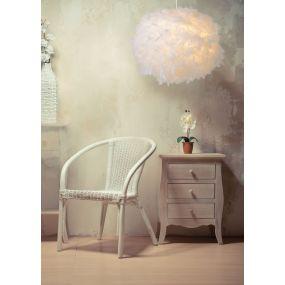 Lucide Goosy Soft - suspension - Ø 50 cm, 165 cm - blanc