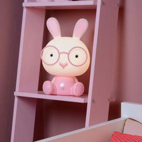 Lucide Dodo Lapin - lampe pour enfants - 30 cm - 3W LED à intensité variable incl. - rose