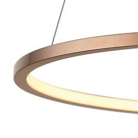 Maxlight Queen - ronde suspension - 50 x 158 cm - 14W LED incl. - couleur cuivre