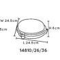 Lucide Hublot LED - pour l'extérieur mur/plafonnier - 24 x 8 cm - 20W LED incl. - IP65 - gris